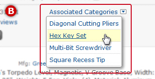Search Page: View Product's Associated Categories